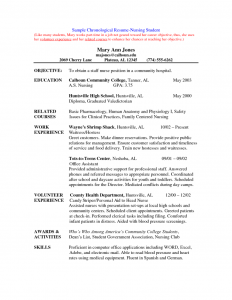 nursing student resume new grad nurse resume template 791x1024