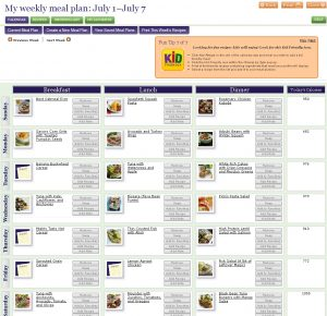 nutrisystem meal planner screenshot recipe lg