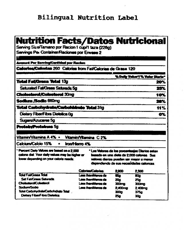 Contemporary nutrition label template excel image for Supplement facts template