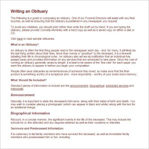obituary template father obituary writing tips with free sample
