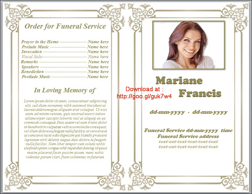 Obituary Template Father  Template Business