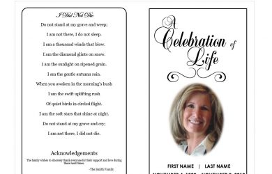 obituary template free printable funeral programs funeral program template funeral intended for free printable obituary templates