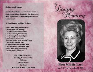 obituary template free rosario de medici funeralservicetemplate purple png