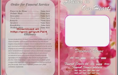 obituary template mother obituary template word