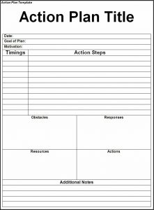 obituary template word action plan template