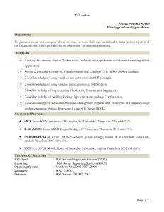 objective for resume for freshers gowri mnc resume fresher sql server