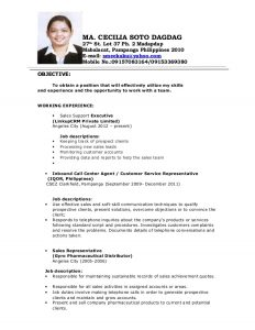objective in resume for fresh graduate cecile resume
