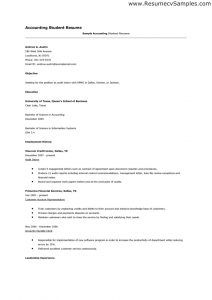 objective in resume for fresh graduate sample resume for fresh graduate accounting