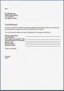 offer acceptance letter job offer acceptance letter format