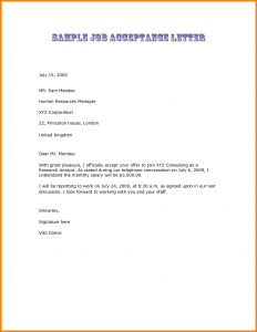 offer letter email job offer letter acceptance email sample