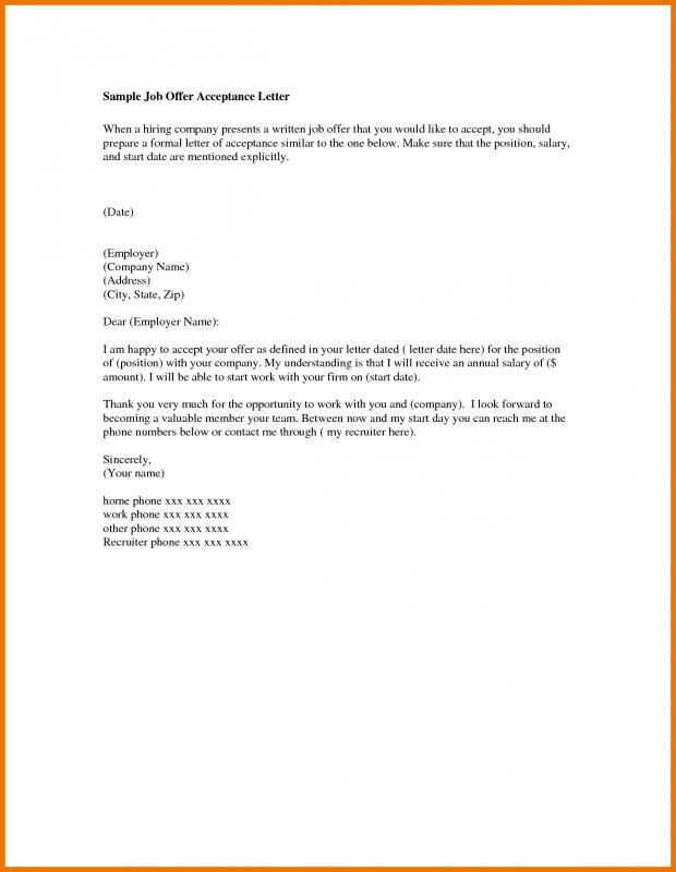 offer letter email template business