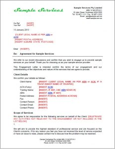offer letter example engagement letter template sample pic