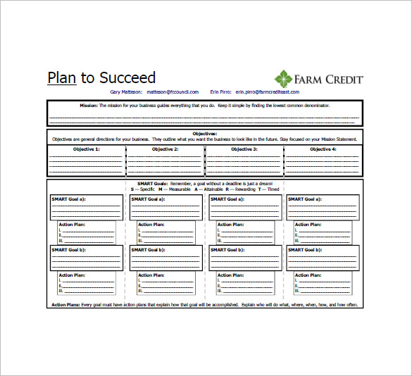 One Page Business Plan Pdf  Template Business