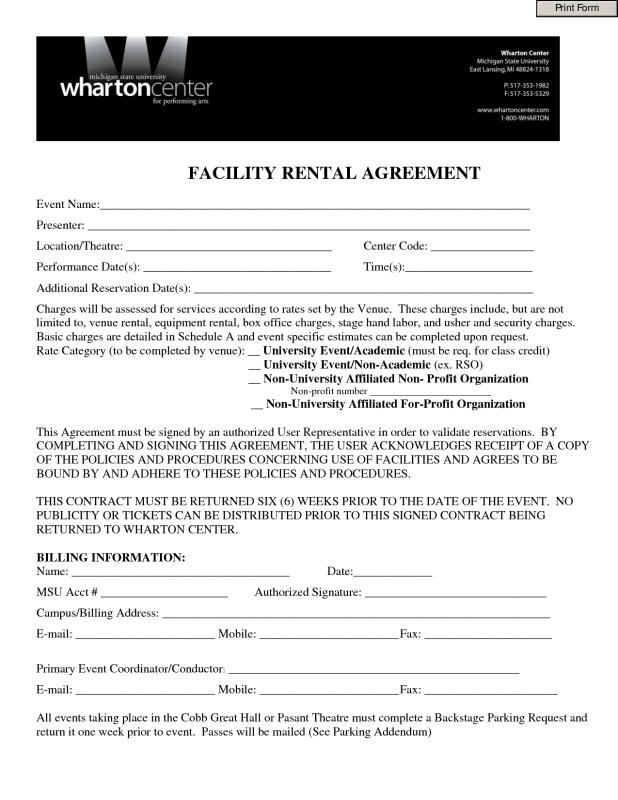 One Page Lease Agreement  Template Business