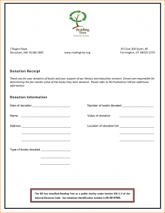 one page lease agreement non profit donation receipt template