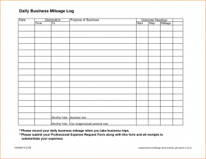 one page lease agreement sample mileage log