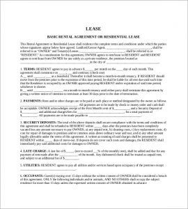 one page rental agreement basic rental agreement template pdf