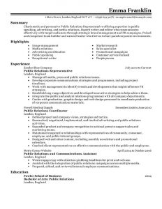 one page resume examples public relations marketing classic