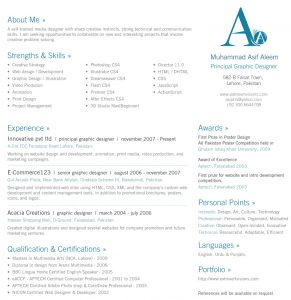 one page resume template cv