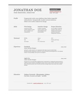 one page resume template free professional online one page resume templates