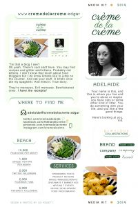 one page template media kit template