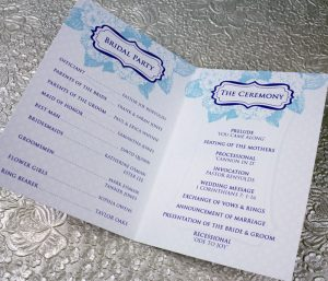 one page wedding program template ak x
