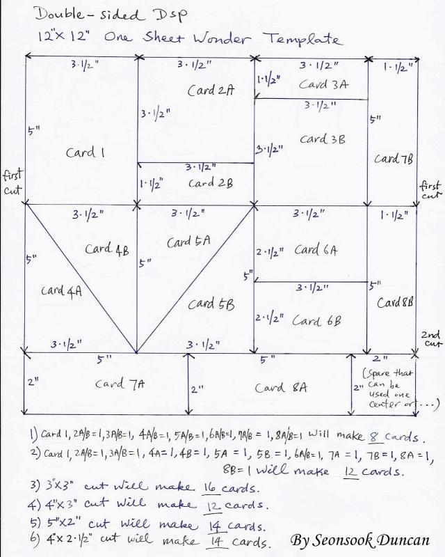 one sheet template