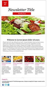 online newsletter templates restaurant newsletter
