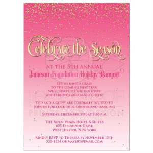 open house flyers rectangle christmascelebratepinkgoldglitter