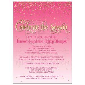open house flyers rectangle christmascelebratepinkgoldglitter