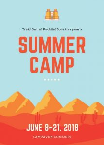 open house flyers canva blue and orange mountains summer camp flyer macqyktllla