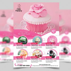 open house flyers templates multipurpose cupcake flyer