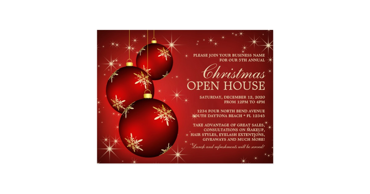 Open House Invitation Template | Template Business