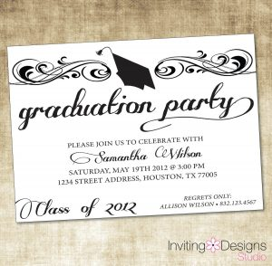 open house invitations templates graduation party invitations wording ideas
