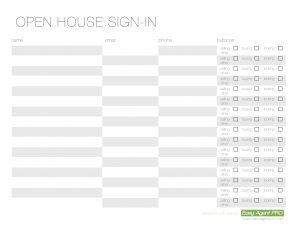 open house sign in sheet printable openhousesignin