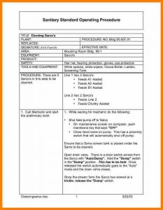 operating agreement example standard operating procedures template sop image