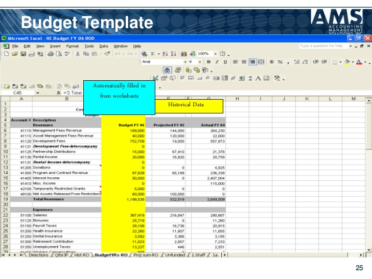 Operating budget template template business for Not for profit budget template