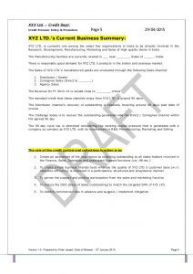 operating manual template template credit policy and related sops pdf