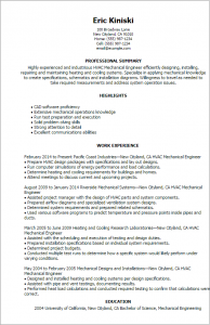 operation manager resume hvac mechanical engineer