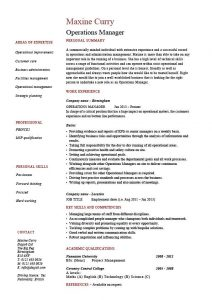 operation manager resume pic operations manager resume