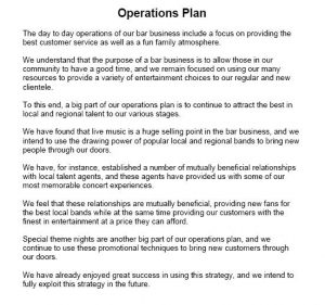 operational plan examples operational plan sample