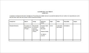 operational plan template club opertional plan free word template download