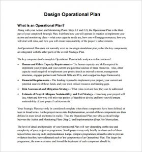 operational plan template design operational plan free pdf template download