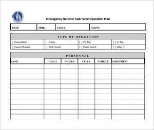 operational plan template template business