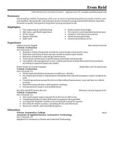 operations manager resume sample automotive technician transportation classisc
