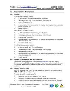 operations manual template ims isoisoohsasdocumentationpackage