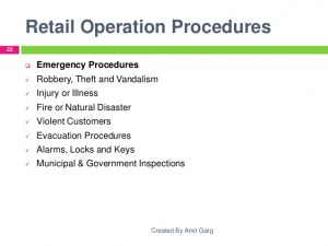 operations manual templates retail store operations briefresearch