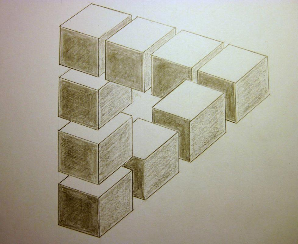 optical illusion drawings