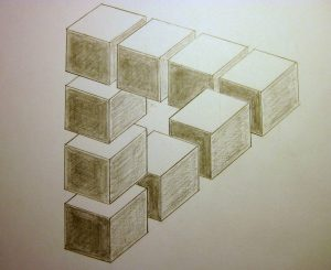 optical illusions drawings illusion