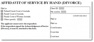 order form example divorce affidavit